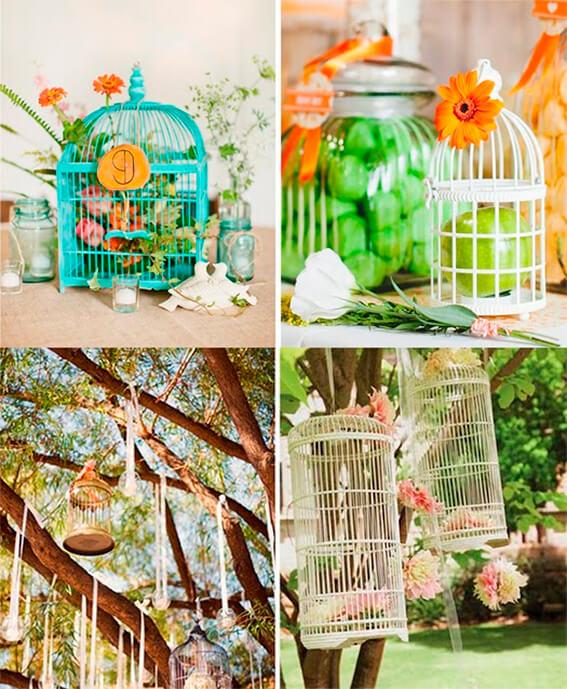 inspiración bodas jaulas