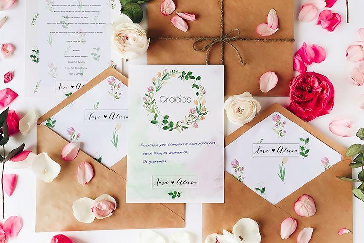papelería de boda originales
