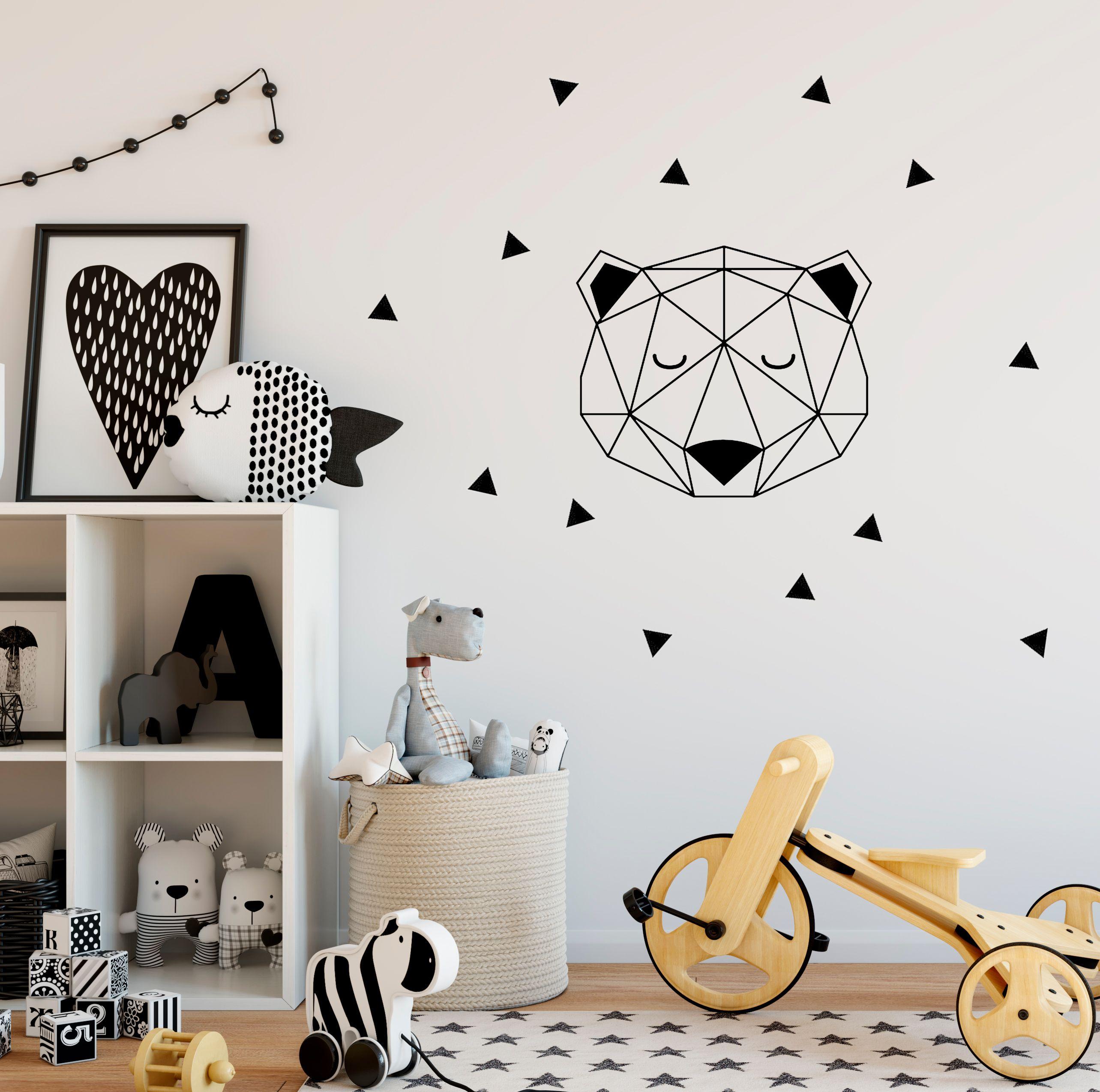 Vinilo-pared-cabeza-oso-geométrica
