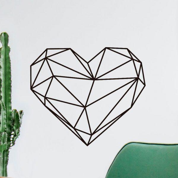 Vinilo de pared corazón geométrico