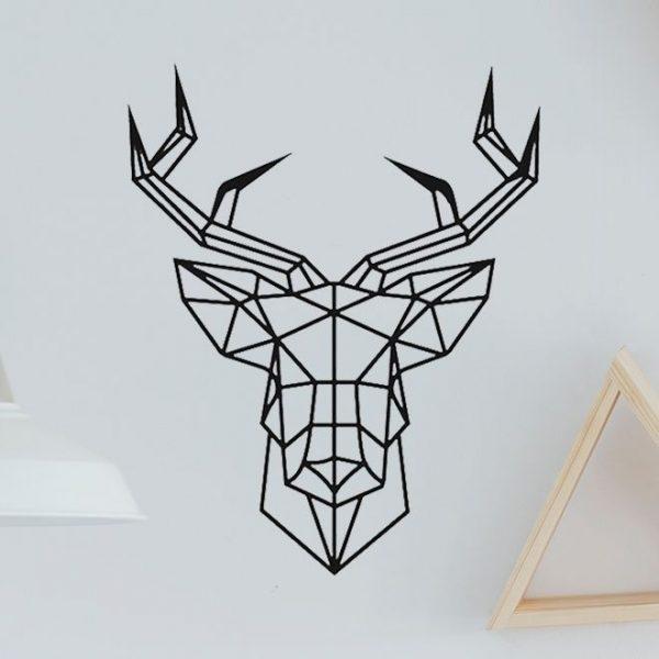 Vinilo de pared ciervo geométrico