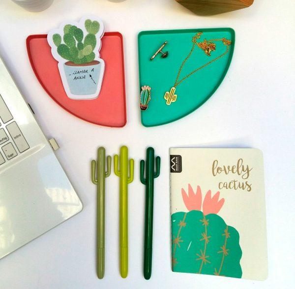 Kit de escritorio cactus