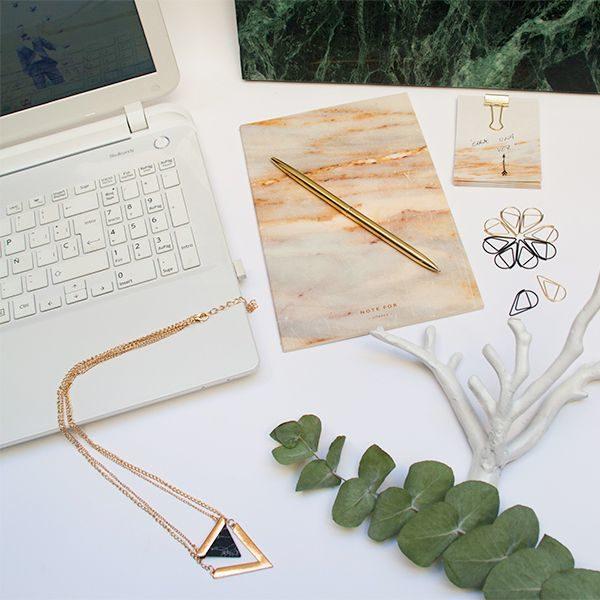 Kit de escritorio marmól