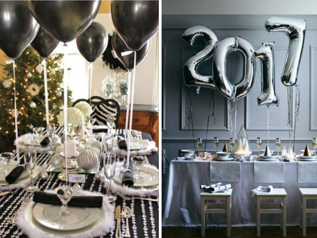 Decoración fin de año con globos