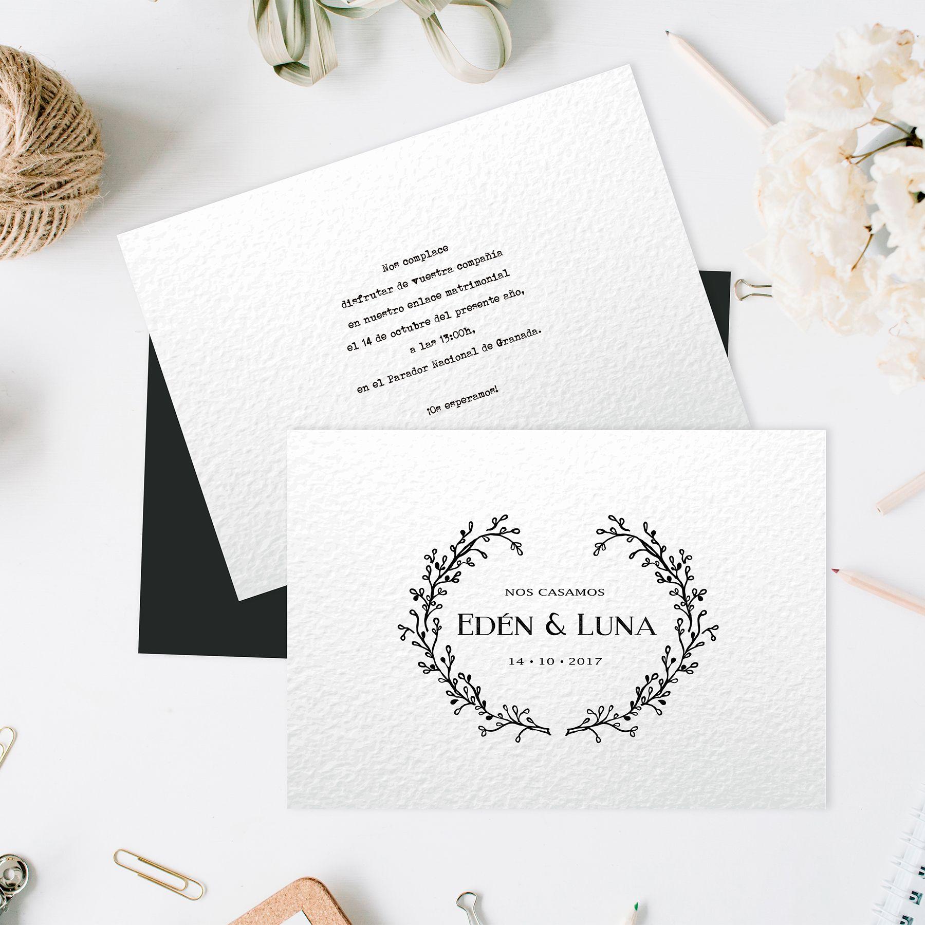 Invitación-Flora anverso y reverso