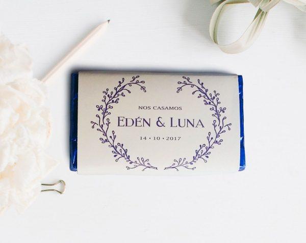 Chocolatinas personalizadas para bodas