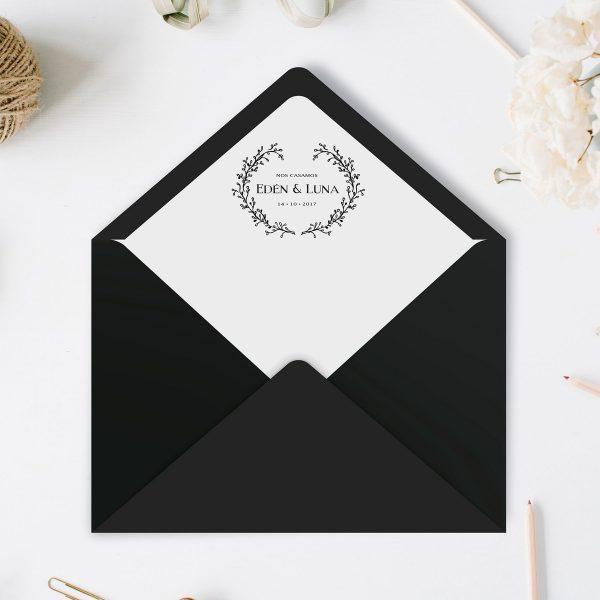 Sobres forrados para bodas